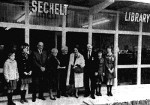 The official opening of the Sechelt Centennial Library on Trail Avenue, December 17, 1967. (Sechelt Community Archives)