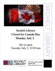 LibraryClosedCanadaDay