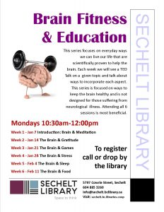 Brain Fitness & Education @ Community Room - Sechelt Library