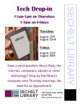 August Tech Drop-in poster