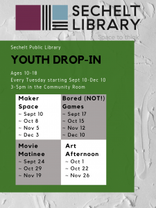 Fall 2019 Youth Drop-In Program
