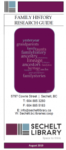 Family History Research Guide - August 2019