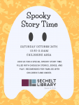 Spooky Story Time - Saturday October 26, 2019.