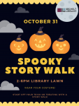 Spooky Story Walk on the lawn of the Sechelt Library