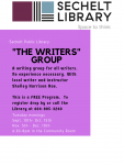 The Writers Group - Session 1 - September and October 2019