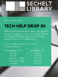 Tech Drop-in - January/February 2020