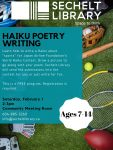 Haiku Poetry Writing - for children ages 7-14