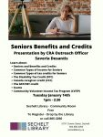 Seniors Benefits & Credits with Saverio Desantis – CRA Outreach Officer