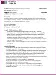 Job Description - Technology Education Coordinator