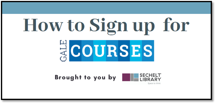 Help accessing Free Gale Courses
