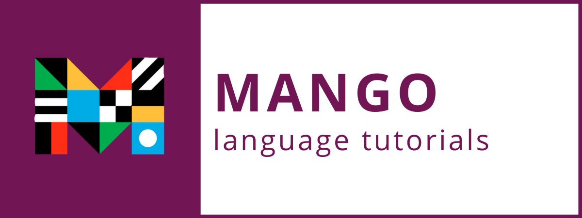 Mango language tutorials