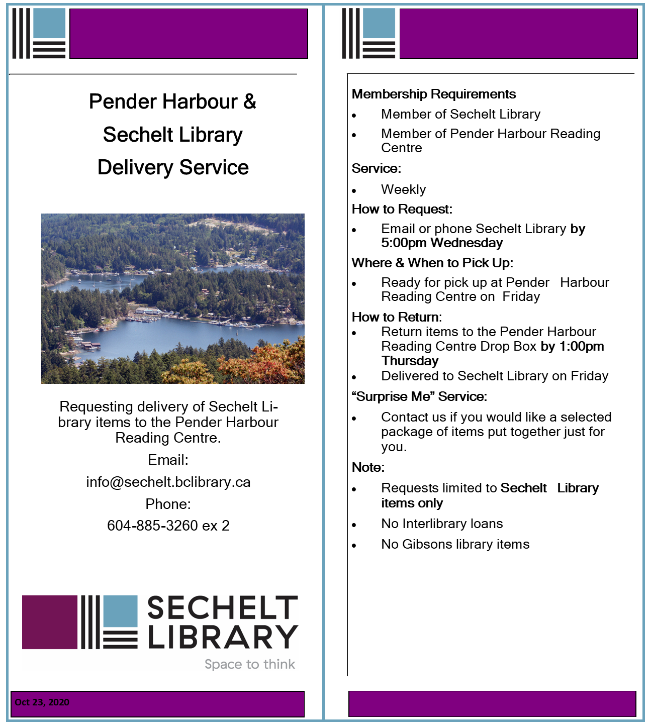 Pender Harbour & Sechelt Library Delivery Service