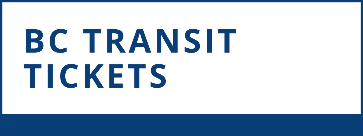 BC Transit Tickets now available at the library. Cash only.