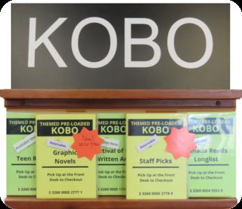 Sechelt Library Kobo e-reader collection
