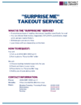 Surprise Me Takeout Service