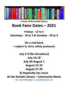 Booke Faire Dates - July and August 2021